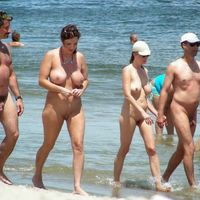 nudist beach family